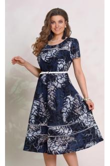 *Распродажа Vittoria Queen 8943 цветочный принт (синий)