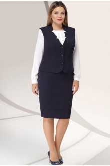 *Распродажа LeNata 31922 тёмно-синий с белой блузой
