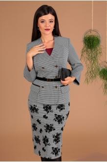 *Распродажа Мода-Юрс 2491 чёрно-белый + юбка гусиная лапка