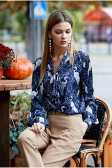 *Распродажа KALORIS 1515 /1 блузка синий