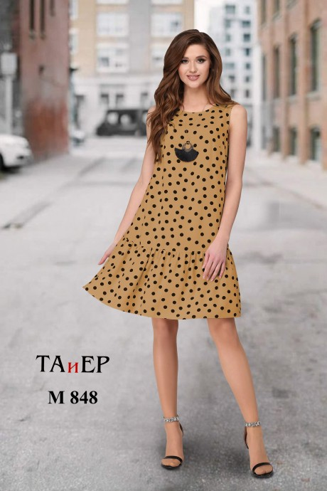 Платье ТAиЕР 848 карамельный в горох размер 42-46, описание, отзывы