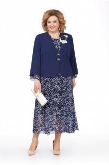 *Распродажа Pretty 848 жакет синий/платье синее в горошек