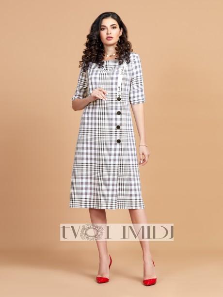Платье Твой Имидж 1349 белый, серый, чёрный размер 52-56, описание, отзывы