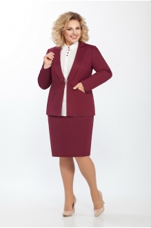 Последний размер ЛаКона 973а бордо/молочная блуза