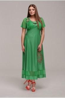 Длинное платье ASPO design 769 зеленый фото 1