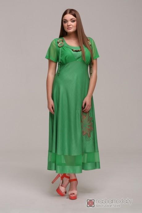 Длинное платье ASPO design 769 зеленый