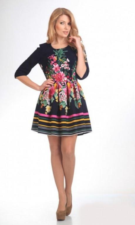 Повседневные платья Ладис Лайн 600 черный