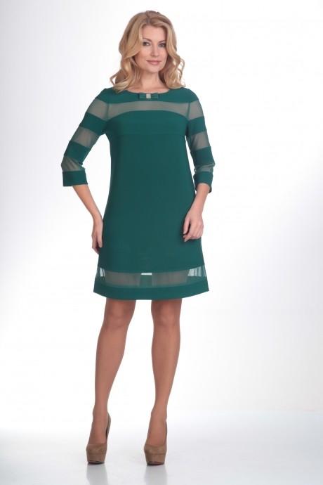 Вечернее платье Люана Плюс 373 зеленый
