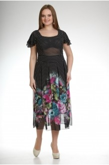 Летние платья Лиона-Стиль 361  черный цветы фото 1