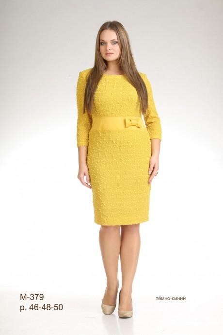 Повседневные платья Лиона-Стиль 379 желтый