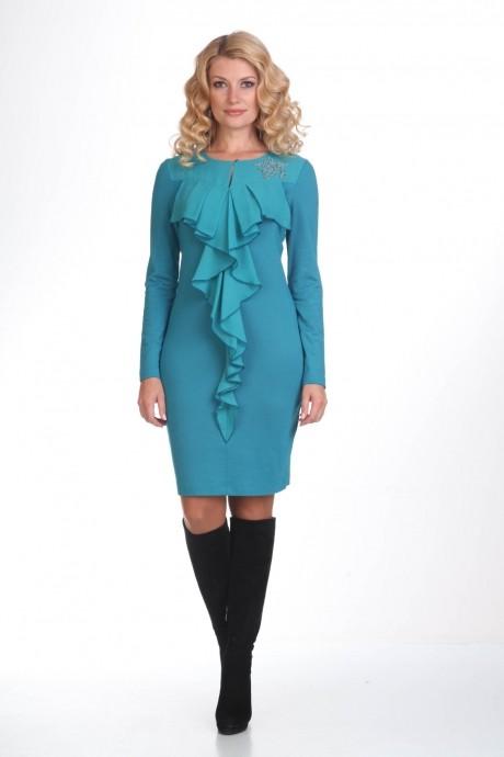 Повседневные платья Лиона-Стиль 419 бирюза