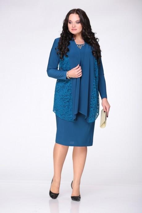 Вечернее платье LeNata 21610 т.бирюзовый