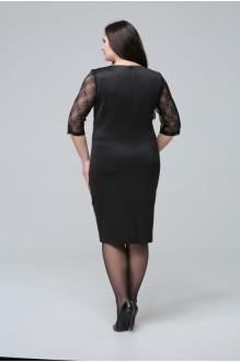 Вечернее платье Matini 3.758 /1 фуксия и черный/фиолетовая вставка фото 2