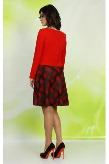 Юбочные костюмы /комплекты ALANI COLLECTION 234 красный  фото 2