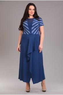 Длинные платья Лиона-Стиль 517 синий фото 1