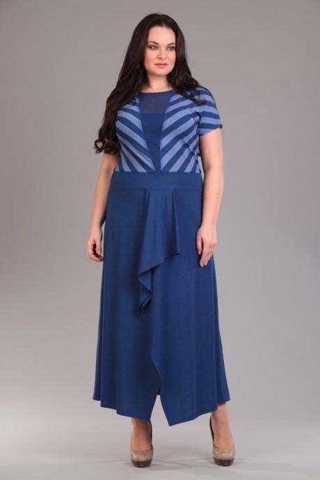 Длинные платья Лиона-Стиль 517 синий