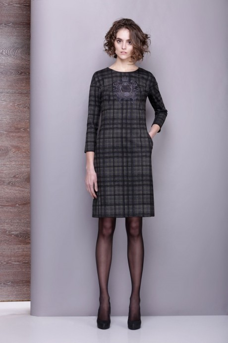 Повседневные платья Golden Valley 4197 серо-оливковый