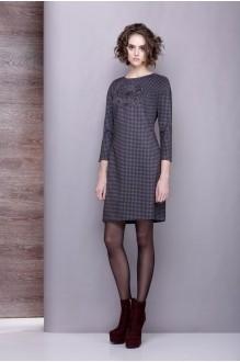 Повседневные платья Golden Valley 4197 клет. серо-черная фото 1