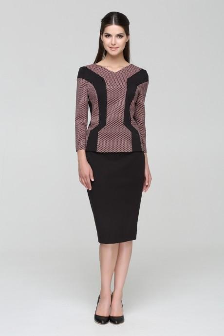 Юбочные костюмы /комплекты Nova Line 2439.3347 розовый/черный