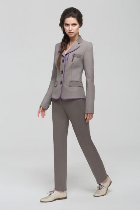 Брючные костюмы /комплекты Nova Line 1406.4161 гусиная лапка/серый