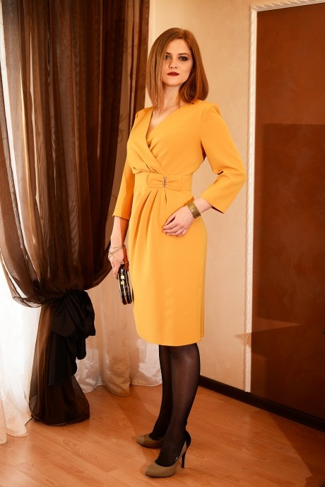 Вечерние платья Ладис Лайн 683 горчица