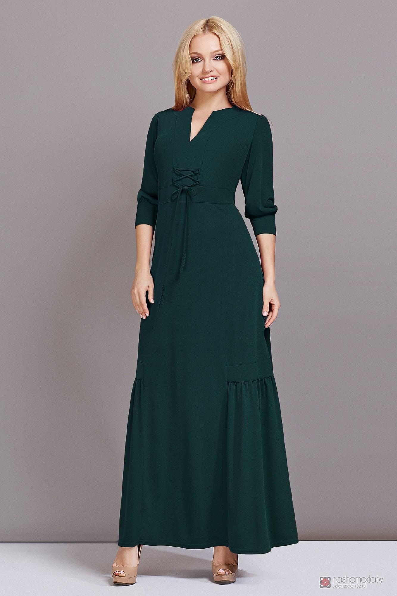 920fa72cc88fbe2 Длинные платья, платья в пол Lady Secret 3332 темно-зеленый.