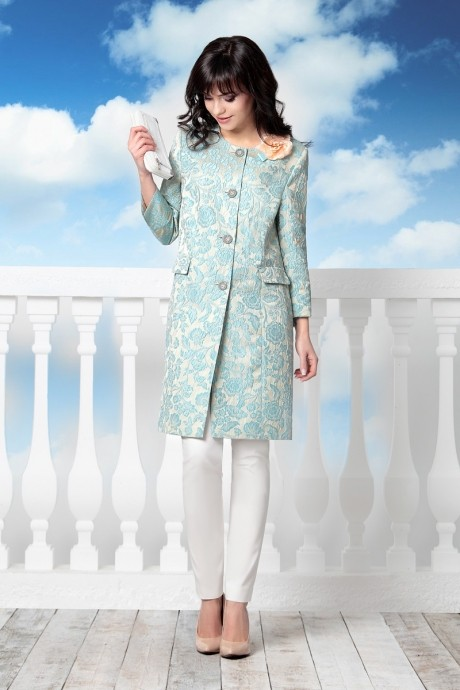 Пальто Elema 5533 голубой