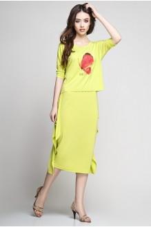 Юбочные костюмы /комплекты Teffi Style 1177 лайм фото 2