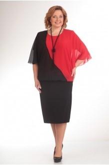 Вечерние платья Прити 408 черный/красный фото 1