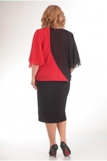 Вечерние платья Прити 408 черный/красный фото 2