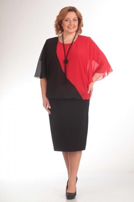 Вечерние платья Прити 408 черный/красный