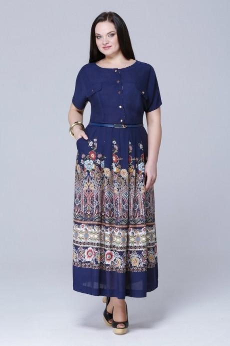 Длинные платья, платья в пол Runella  1065 темно-синий