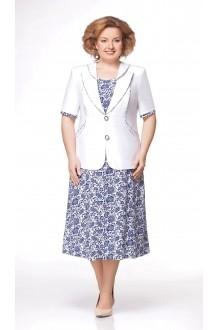 Юбочные костюмы /комплекты Aira Style 475 белый/синий фото 1