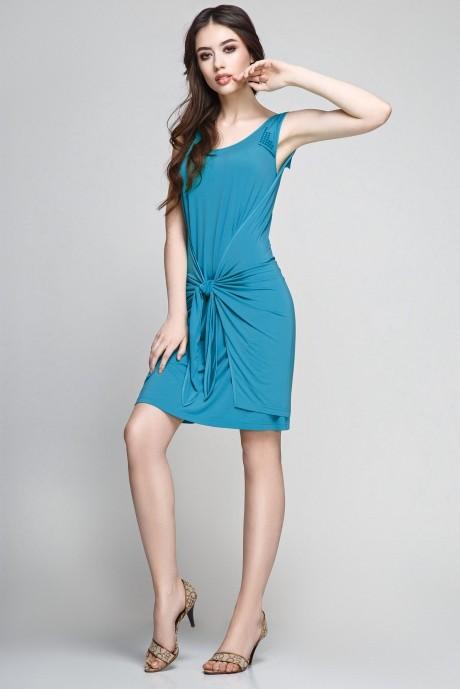 Летние платья Teffi Style 1172 тем. бирюза