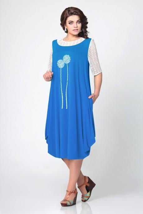 Повседневные платья Мублиз 967 василек