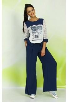 Брючные костюмы /комплекты ALANI COLLECTION 327 синий фото 1