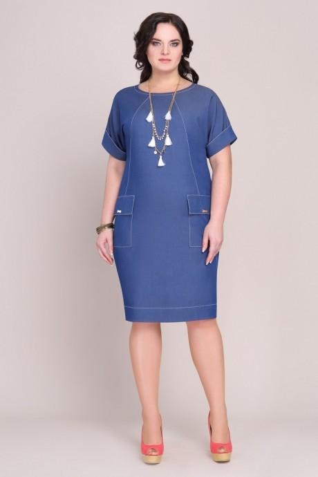 Повседневные платья Магия Моды 1028 синий