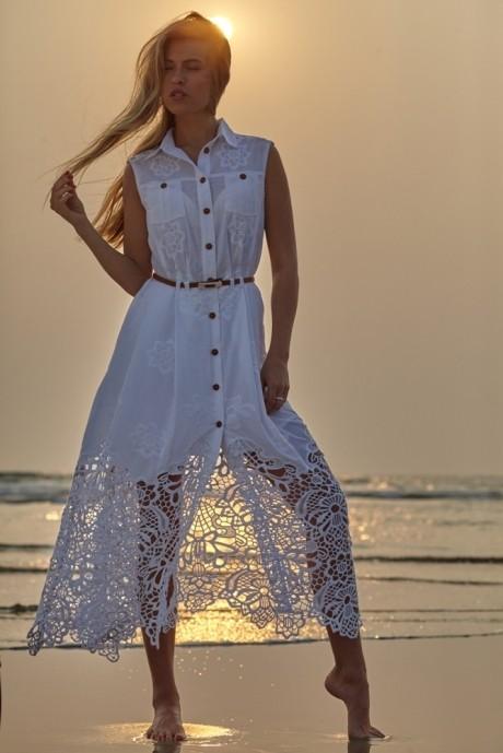 Летние платья Vesnaletto 890 -2 белый