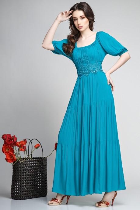 Длинные платья Teffi Style 1166 темная бирюза