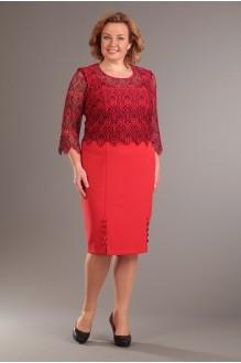 Деловые платья Diomant 989 красный фото 1