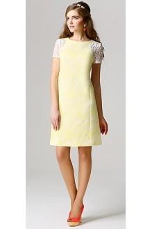 Вечерние платья Модная страна 3.0394 желто-белый фото 1