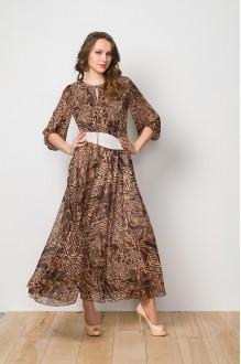 Длинные платья, платья в пол Gold Style 1897 коричневый фото 1