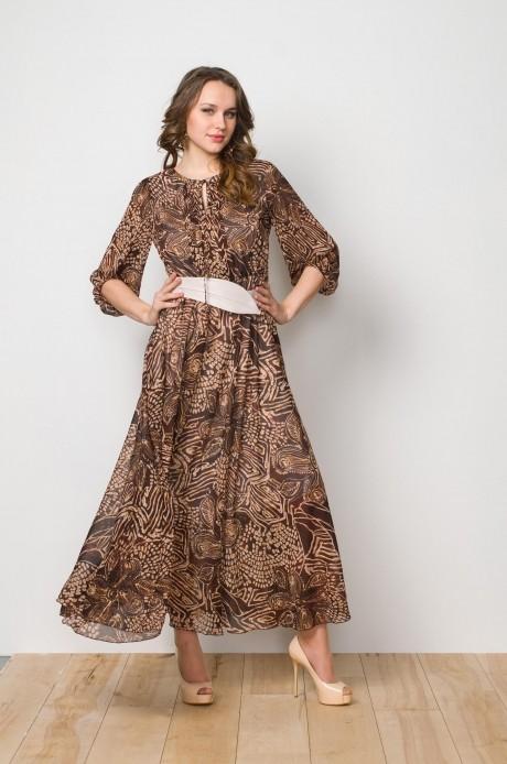 Длинные платья, платья в пол Gold Style 1897 коричневый