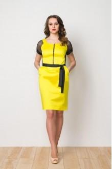 Летние платья Gold Style 1922 желтый/темно-синий фото 1