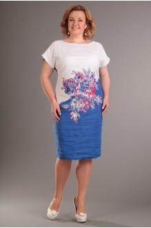 Летние платья Diomant 1086 белый/синий фото 1