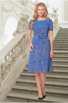Летние платья Карина Делюкс 58 синий фото 1