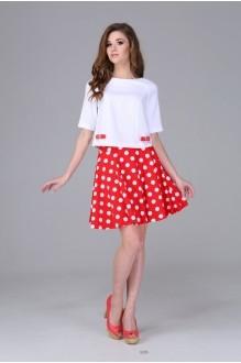 Юбочные костюмы /комплекты Arita Style (Denissa) 943 красный+белый фото 1