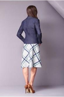 Юбочные костюмы /комплекты Golden Valley 6097 синий/салат фото 2