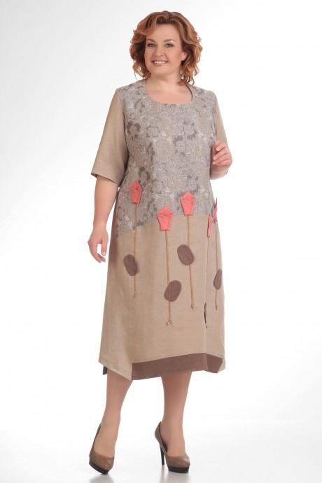 Повседневные платья Надин-Н 1276 (1) беж
