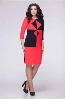 Повседневные платья Надин-Н 1280 (1) красный/чёрный фото 1